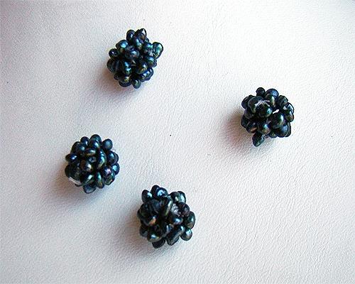 Bolitas de mil perlas pequeñitas 12mm. Grises