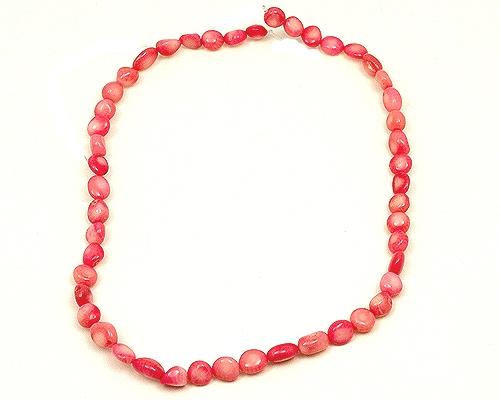 Collar de coral bambú rosa