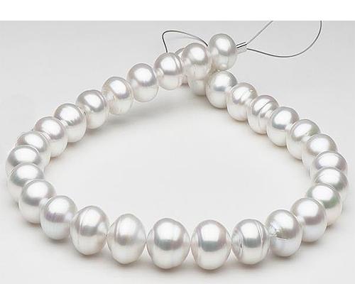 Collar de perla Australiana semiesférica blanca