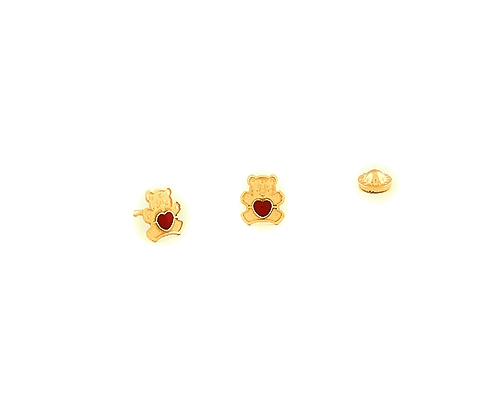 Pendientes en Oro750ml. y esmalte - Osos