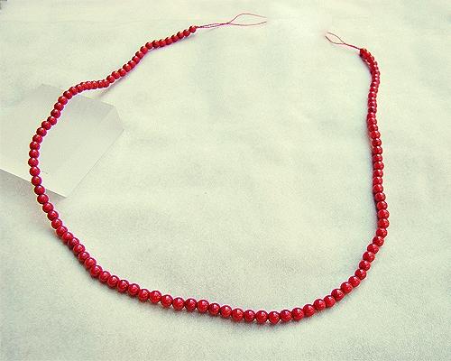 Collar de coral Bambú en bolita 3-4mm.