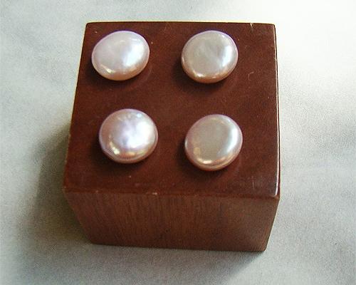 Perla Coin 14-15mm. Rosa o malva