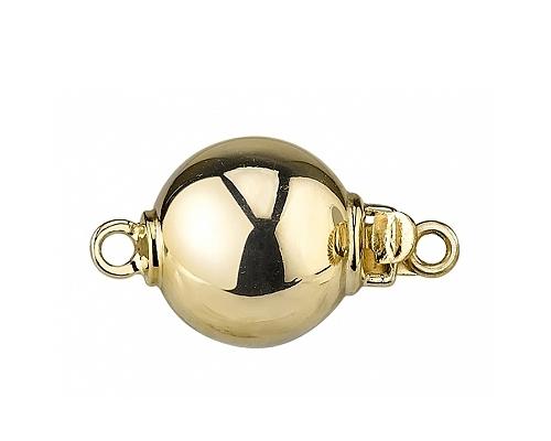 Broche en bola de 12mm. en oro de 1ª ley