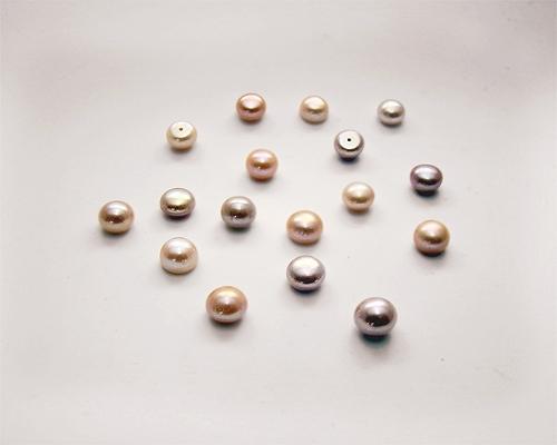 Perla botón 8,5mm. Malva