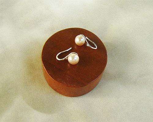 Pendientes de Perla cultivada AAA malva y Plata