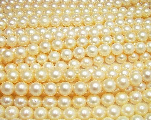 Collar de perla Akoya Golden esférica