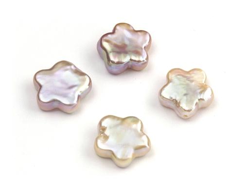 Perlas en flores rosas o blancas