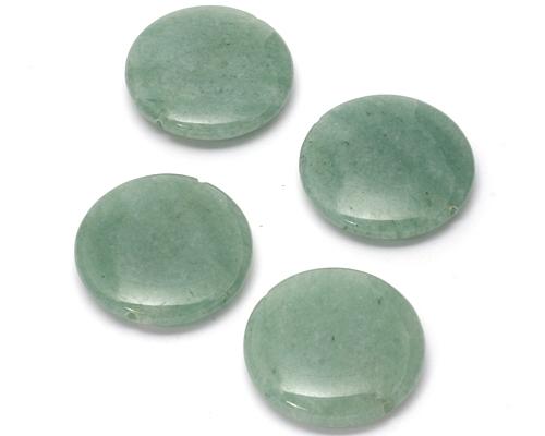 Piezas de ágata verde en disco