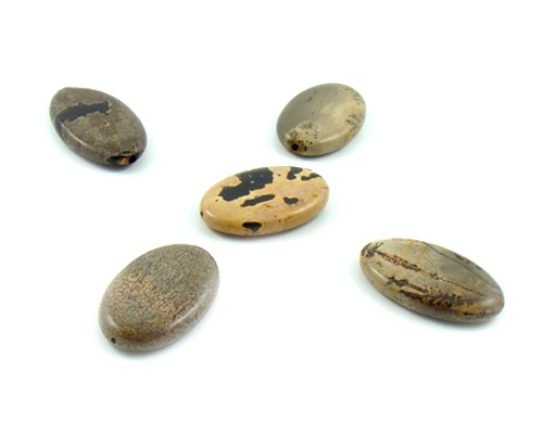 Piezas de  jaspe picasso oval