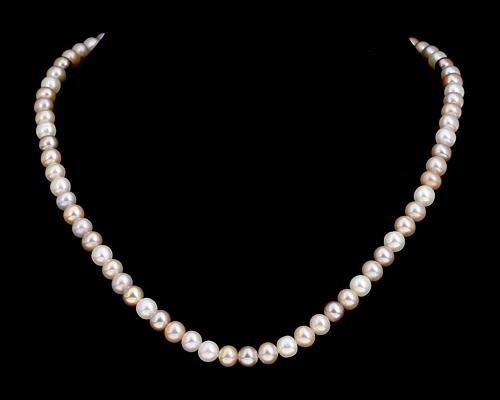 Collar de perla esférica multicolor