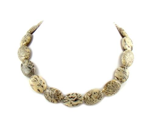 Collar de jaspe Dalmata oval