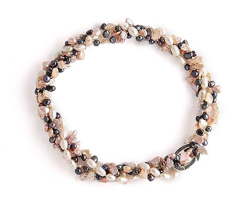 Collar de Perlas cultivadas y Acortacollar en Plata de 925ml.
