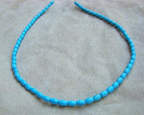 Collar de turquesa oval