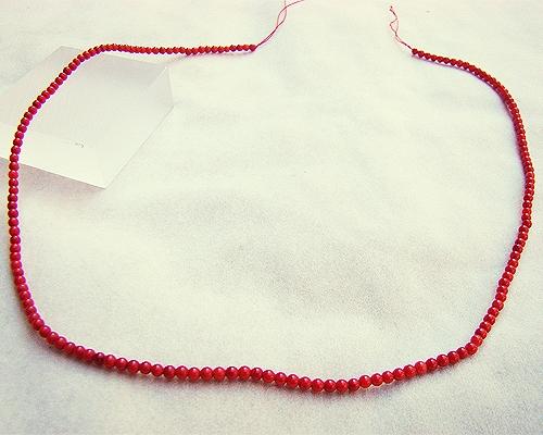Collar de coral Bambú en bolita 2mm