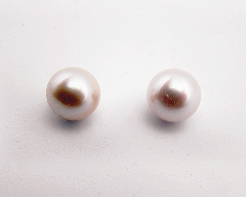 Perlas Australianas esféricas 12mm. malvas