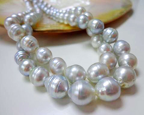 Collar de perla Australiana oval