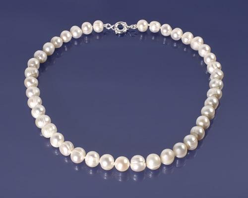 Collar de Perla esférica barroca y Plata 925ml.