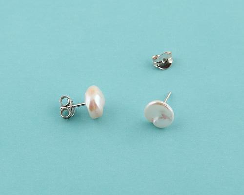 Pendientes de Perla AAA Rosa barroca y plata 925ml.