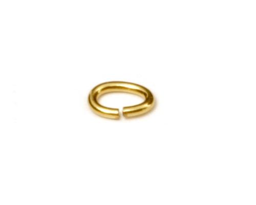 Anilla abierta ovalada de Oro 6x4mm.
