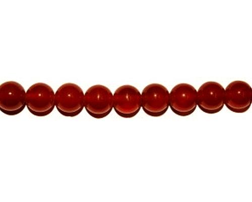 Collar de ágata cornalina bolita 2mm.