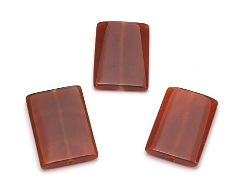 Piezas de ágata roja