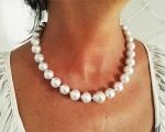 Collar terminado con perla Australiana barroca blanca