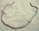 Collar de perlas patatita gris plata