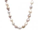 Collar de perlas barrocas multicolor