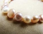 Pulsera de Perlas blancas, malvas y rosas