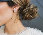 Presiones de perlas 13mm. Center. Blancas. Montadas en plata