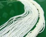 Collar de perla arroz blanca