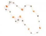 Collar de Perlas cultivadas, Coral y reasa de Plata 925ml.