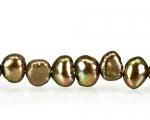 Collar de perla patatita en color bronce