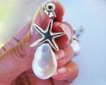 Pendientes de Perlas y fornitura en Plata