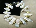 Pulseras de Perlas Cultivadas y cierre de 10mm. de acero imantado
