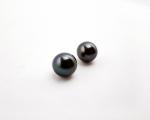 Perla esférica Gris. 12.5mm.
