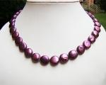 Collar de perlas Coin violeta
