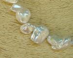 Collar de perla barroca irregular blanca