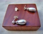 Perla oval Gris Plata