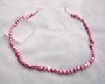 Collar de perlas patatita rosa chicle