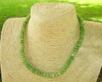 Collar de aventurina verde en Rondel facetado