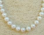 Collar de perla Australiana esférica blanca