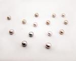Perla botón 7,5-8mm. Rosa o malva