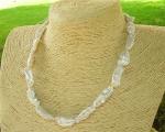Collar de perla barroca alargada blanca