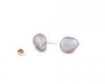 Pendientes de perla barroca en plata.