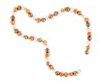 Collar de perlas semi esféricas multicolor
