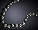 Collar de perla Tahití oval en diferentes grises