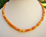 Collar de coral Bambú rectangular