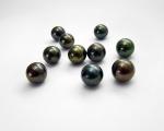 Perla esférica Gris. 10mm.