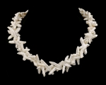 Collar de perla Biwa en espiga blanca